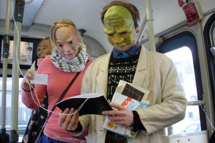 Kunst in der Straßenbahn