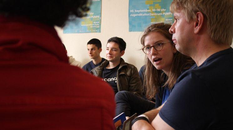 Gruppendiskussion auf dem Berliner Jugendforum 19 (Foto: Babette Pohle)