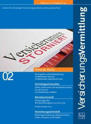 Cover der BVK Mitgliederzeitschrift VersicherungsVermittlung Ausgabe Februar | 2011