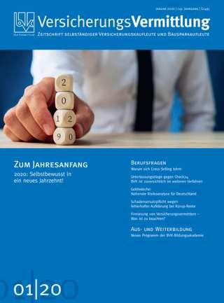 Cover der BVK Mitgliederzeitschrift VersicherungsVermittlung Ausgabe Januar | 2020