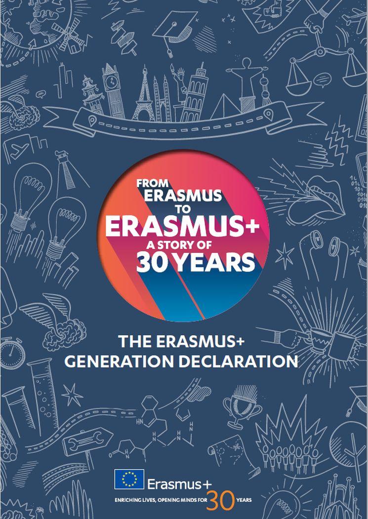 Titelbild der Deklaration der Erasmus+ Generation