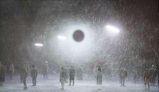 Produktionsfoto: Violetter Schnee