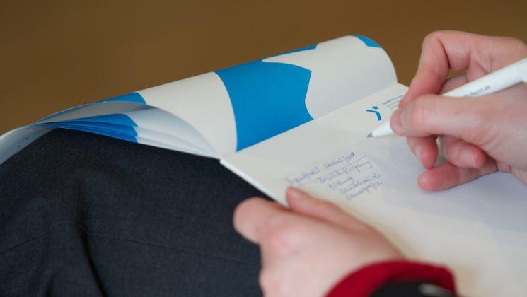 Notizen auf einem Notizblock
