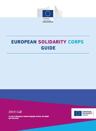 European Solidarity Corps Guide 2019