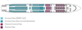 Sitzplan Eurowings A330-300 Frankfurt - Windhoek
