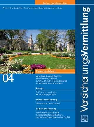 Cover der BVK Mitgliederzeitschrift VersicherungsVermittlung Ausgabe April | 2011