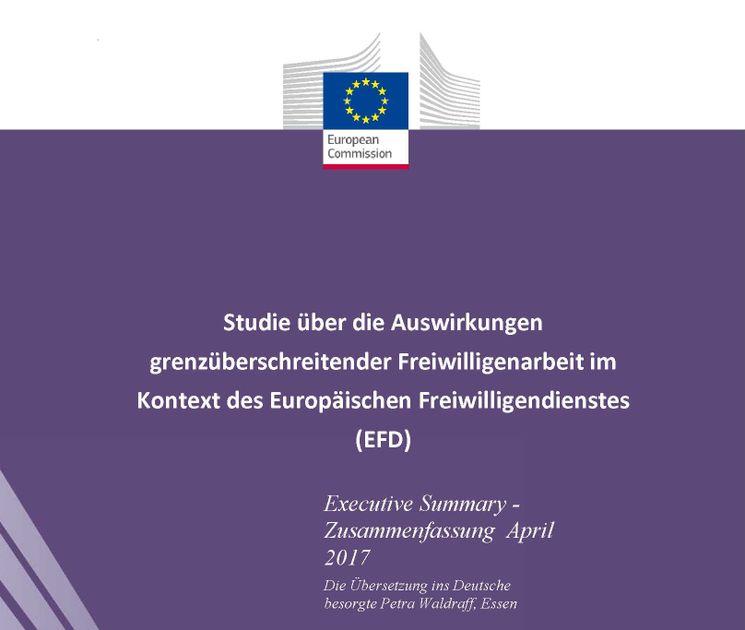 Titel der deutschen Übersetzung der Wirkungsstudie zum Europäischen Freiwilligendienst