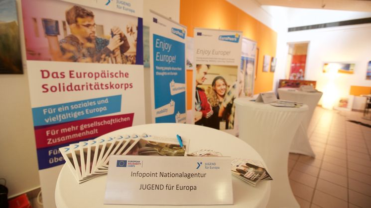 Infopoint zum Europäischen Solidaritätskorps