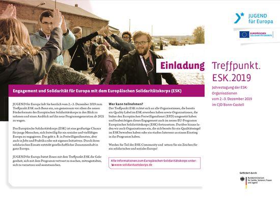 Teaser-Bild zu Einladung: Treffpunkt.ESK.2019