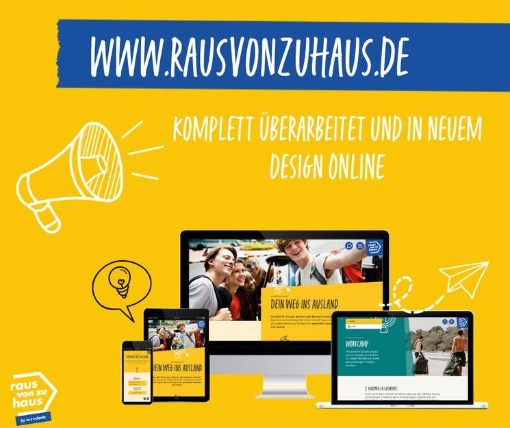 Neuer Auftritt der rausvonzuhaus.de