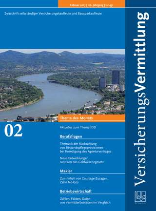 Cover der BVK Mitgliederzeitschrift VersicherungsVermittlung Ausgabe Februar | 2017