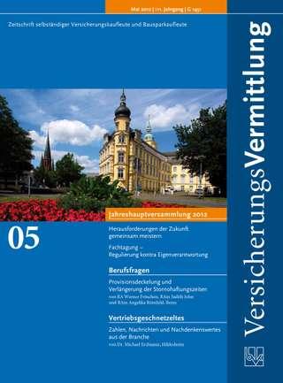 Cover der BVK Mitgliederzeitschrift VersicherungsVermittlung Ausgabe Mai | 2012