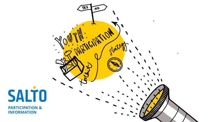 Graphische Darstellung eines Toolkit, das durch eine Taschenlampe angestrahlt wird
