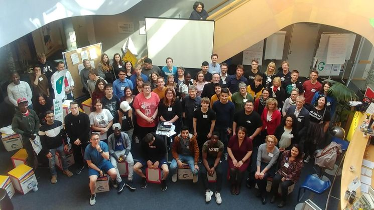 Teilnehmerinnen und Teilnehmer der Jugendkonferenz Take V - Foto: Bremer Jugendring