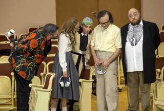 Goran Jurić (Mendoza), Aida Garifullina (Luisa), Anna Goryachova (Clara d'Almanza), Andrey Zhilikhovsky (Don Ferdinand) und Maxim Paster (Moderator)