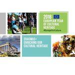 Titelbild von Erasmus+. Enriching our cultural heritage