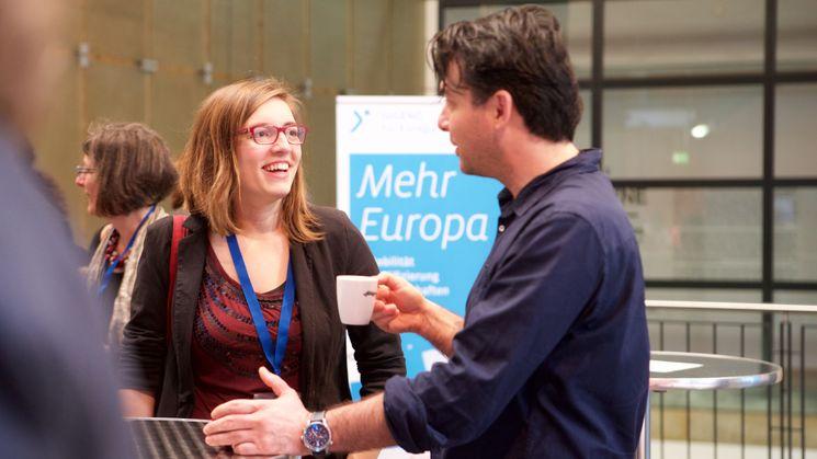 Gespräche auf dem Checkpoint Erasmus+ JUGEND IN AKTION