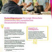 Titelbild von Fact Sheet zu den Freiwilligenteams im Europäischen Solidaritätskorps