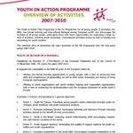 Titelbild von Youth in Action: overview of activities 2007-2010