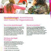 Titelbild von Fact Sheet zum Qualitätssiegel im Europäischen Solidaritätskorps