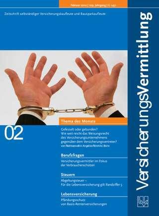 Cover der BVK Mitgliederzeitschrift VersicherungsVermittlung Ausgabe Februar | 2010