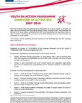 Coverbild der Publikation Youth in Action: overview of activities 2007-2010