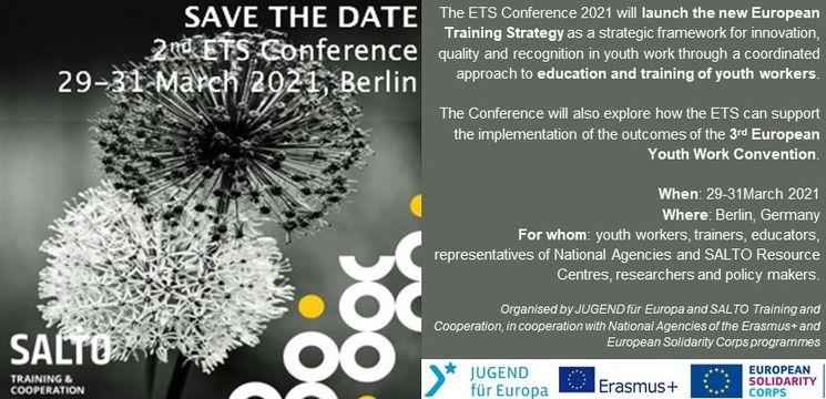 Save the date zur zweiten ETS-Konferenz vom 29. bis zum 31. März in Berlin
