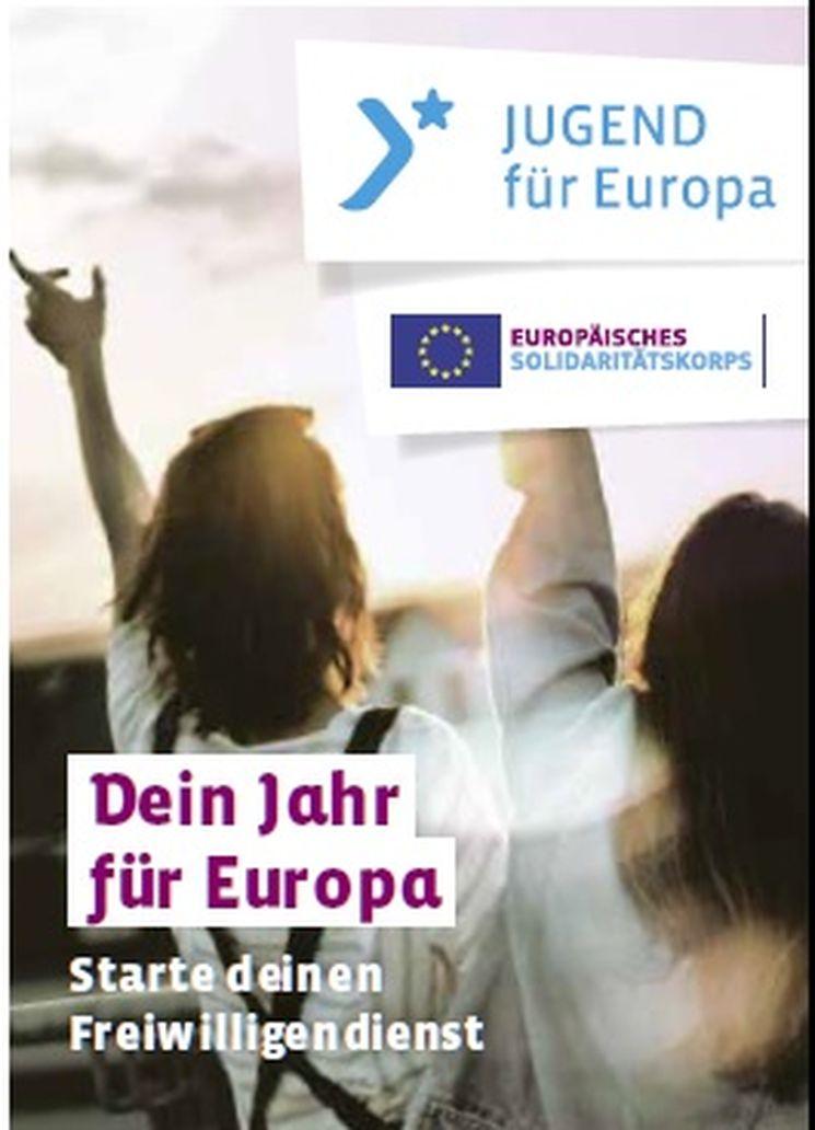 Titel der Broschüre Dein Jahr in Europa