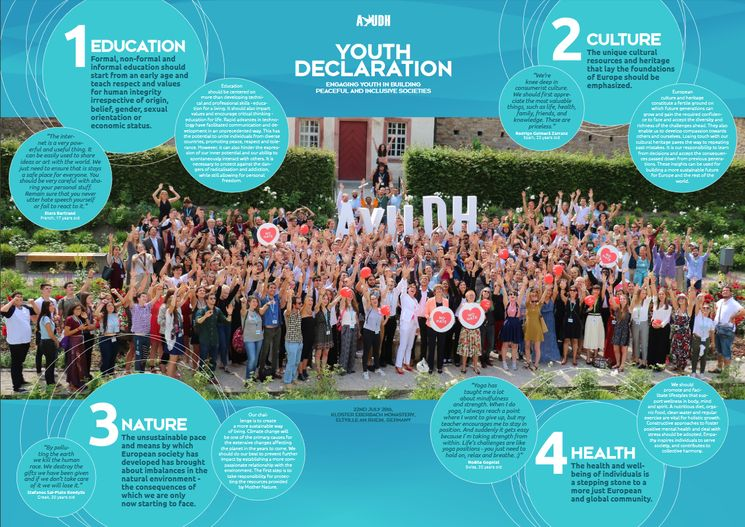 Official AYUDH Youth Declaration in a poster format