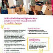 Titelbild von Fact Sheet zum Freiwilligendienst im Europäischen Solidaritätskorps
