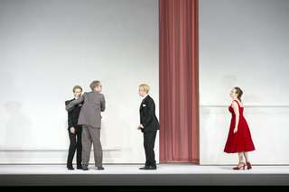 Marina Prudenskaya (Der Komponist), Roman Trekel (Der Musiklehrer), Florian Hoffmann (Tanzmeister), Brenda Rae (Zerbinetta)
