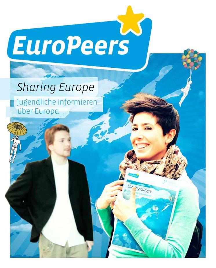 Deckblatt EuroPeer Broschüre mit Jugendlichen